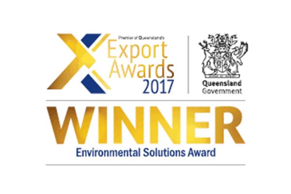 Premier of Queensland's Export Awards 2017 Winner - Environmental Solutions Award