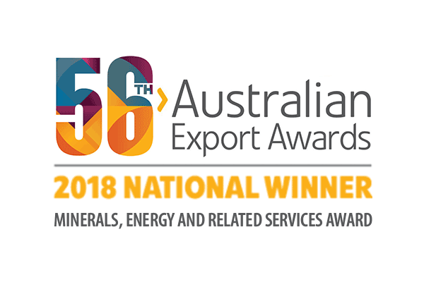 56th Australian Export Awards 2018 National Winner - Minerals, Energy and Related Services Award